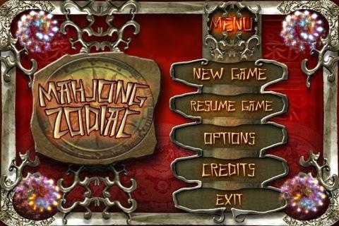 Mahjong Zodiac for iPhone Menu